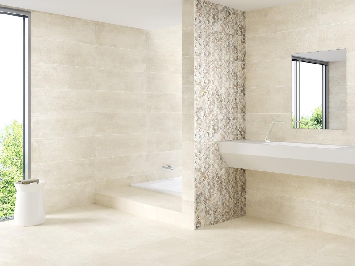 El desaf o en decoraci n baldosas con acabado cemento for Carrelage 90 x 90