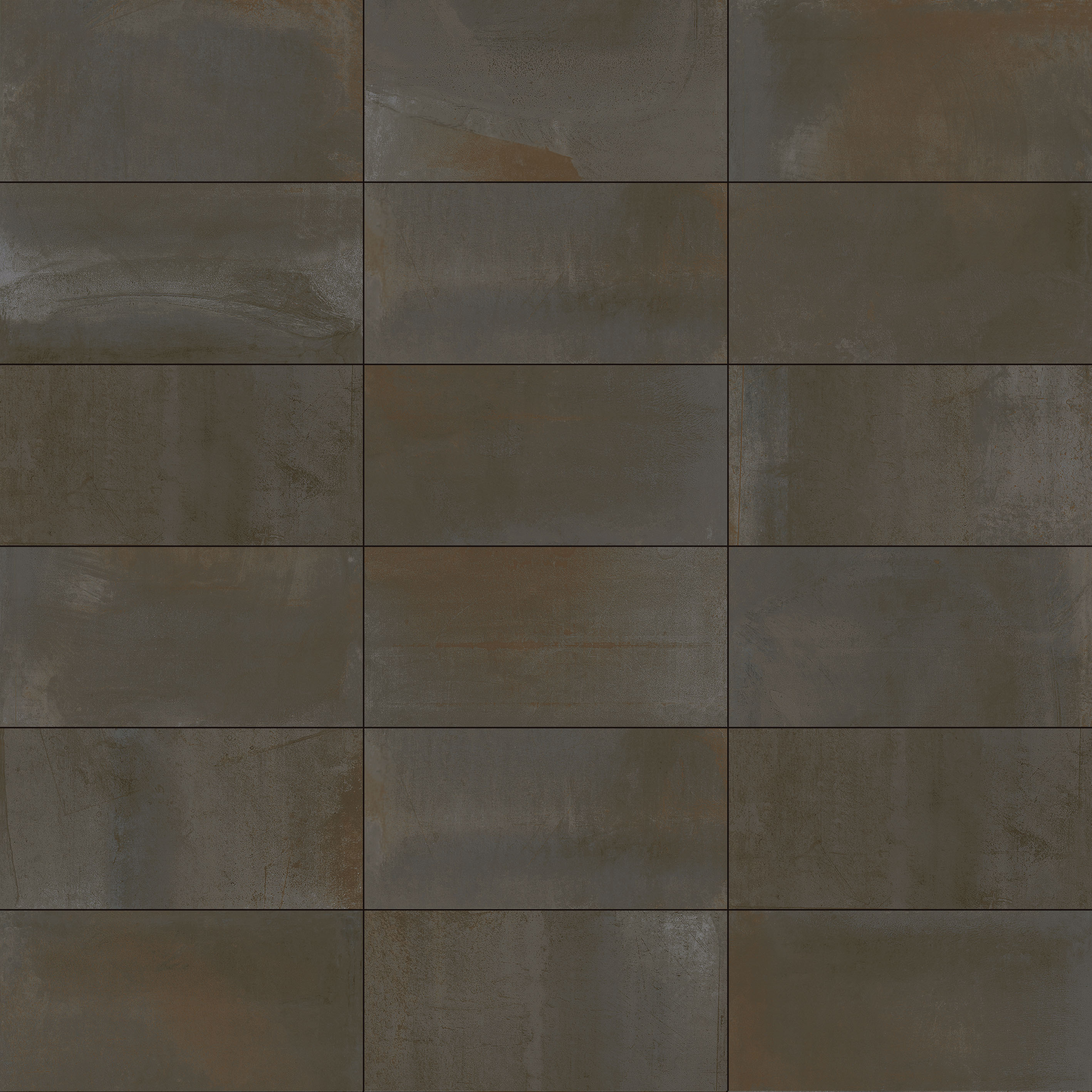 Ceramic Tiles Inspired By Rusted Metal And Cement