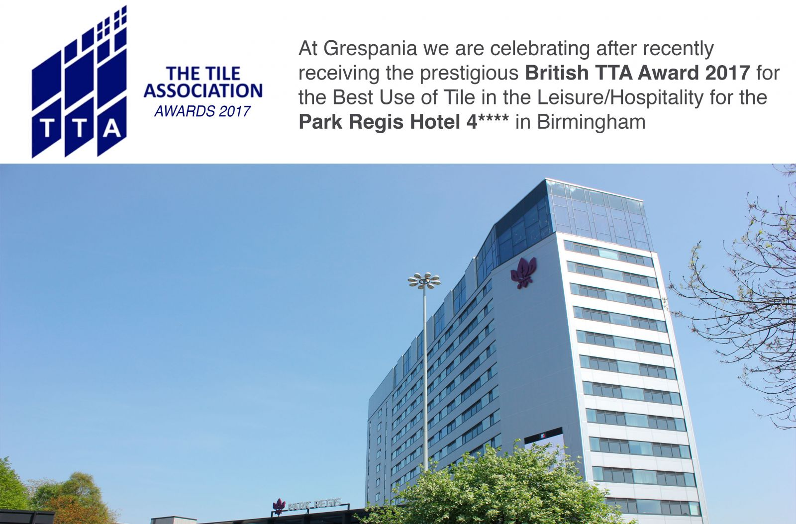 Grespania awarded with the TTA Awards for the best use of tiles in ...