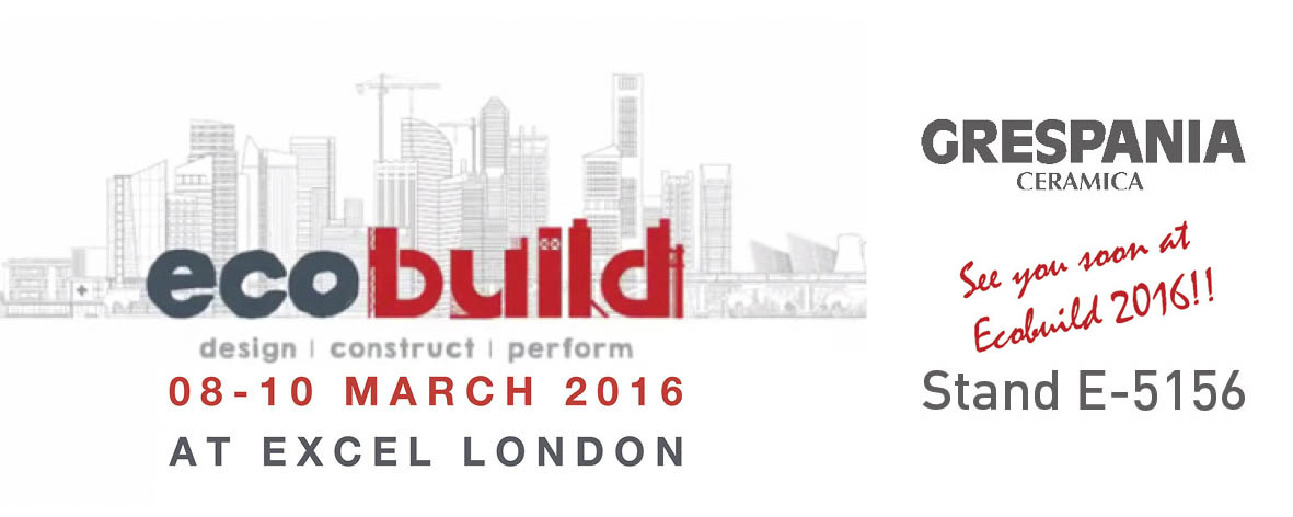 SEE YOU SOON AT ECOBUILD 2016!